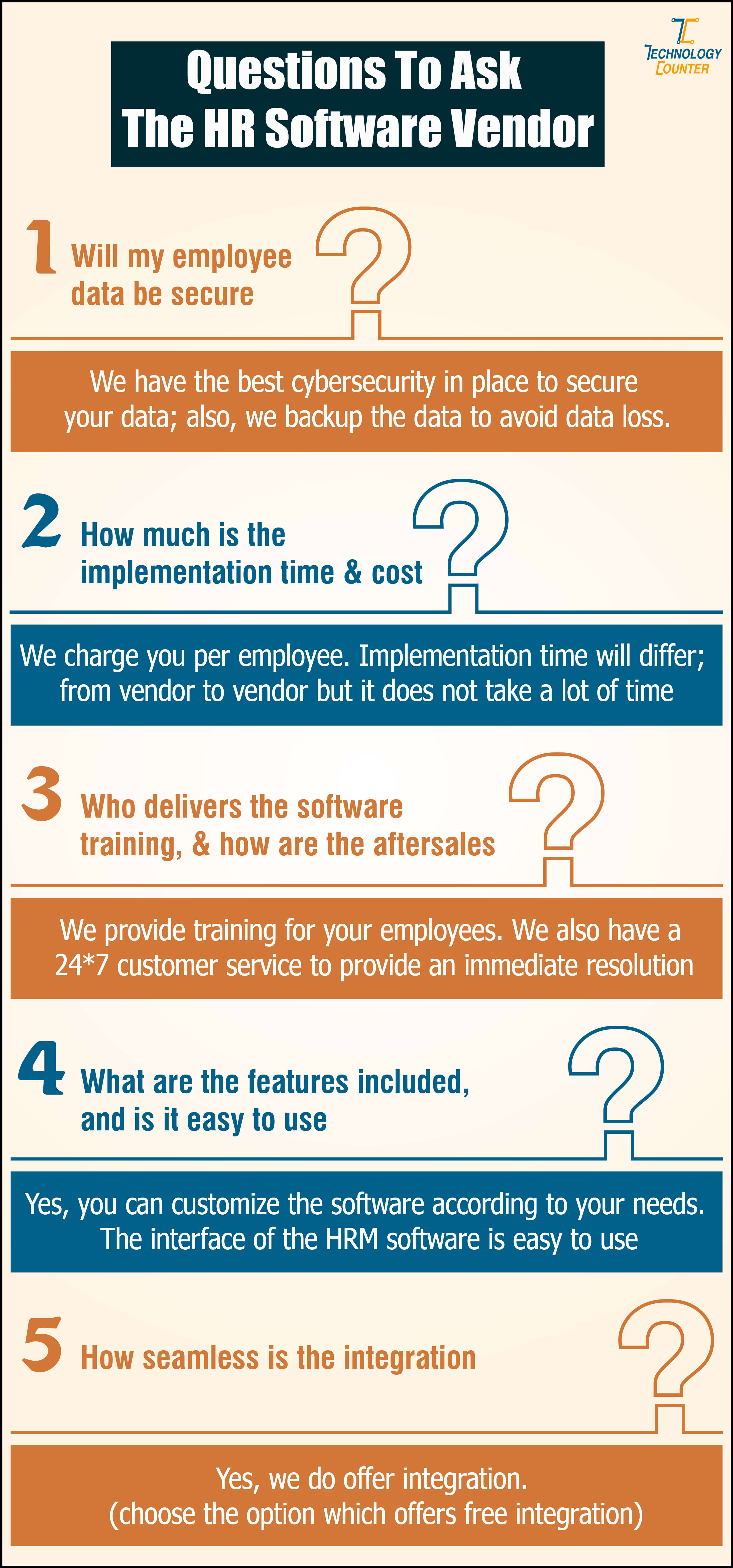 Questions To Ask the HR Software Vendor