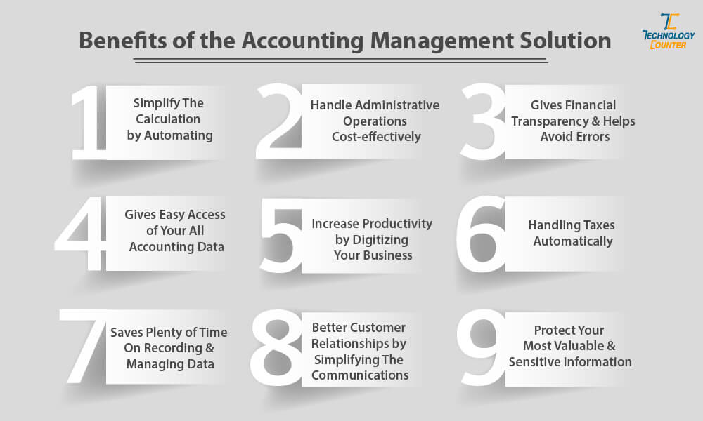 Benefits of the accounting management solution