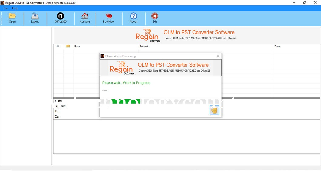 Regain OLM to PST Converter Software