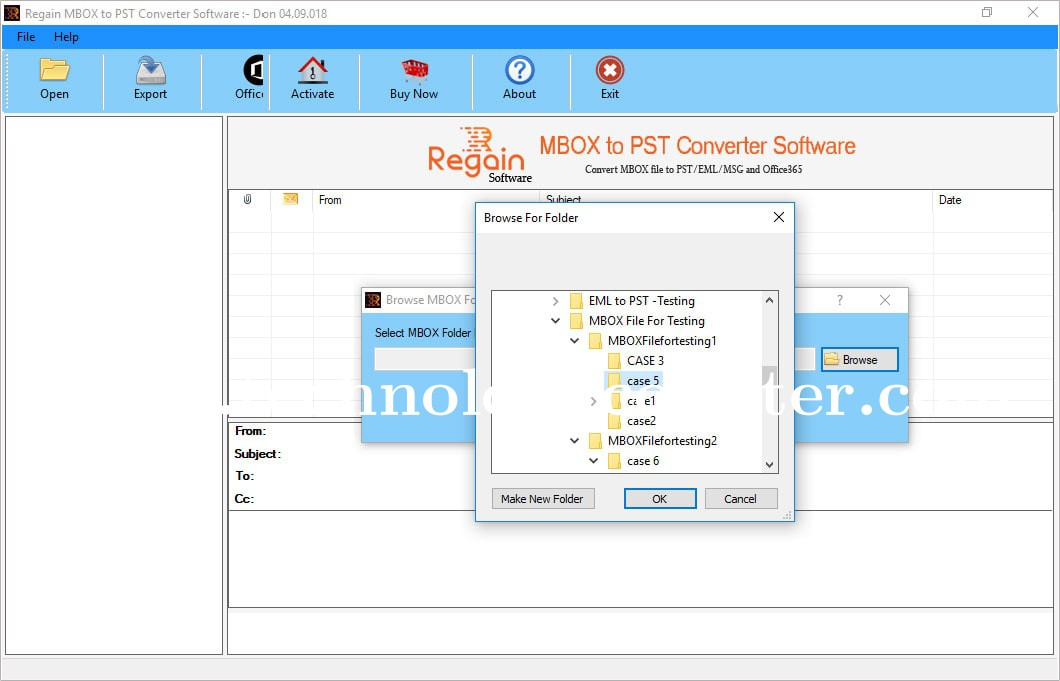 Regain MBOX to PST Converter Software
