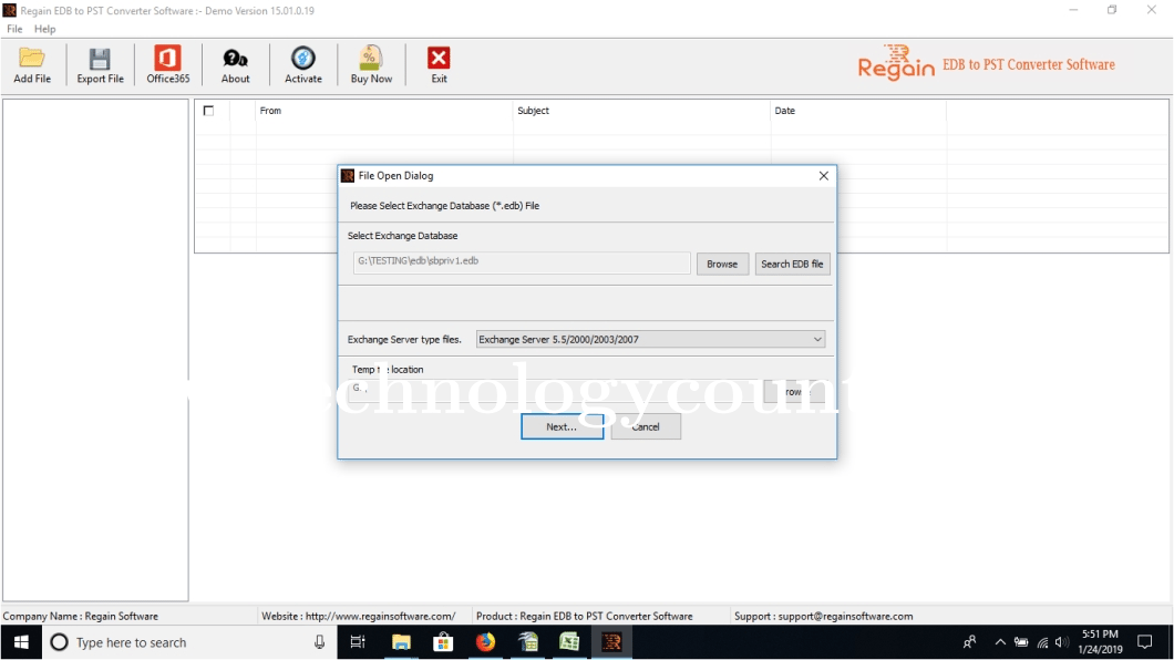 Regain EDB to PST Converter Software