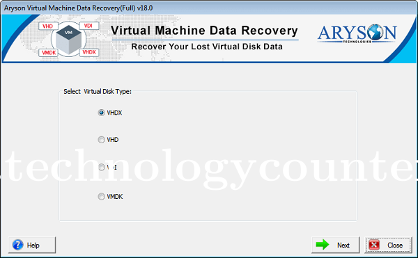 Aryson Virtual Machine Data Recovery