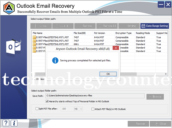 Aryson Outlook Email Recovery