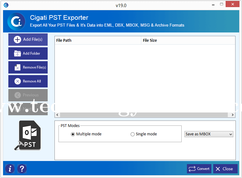 Outlook PST Export Tool