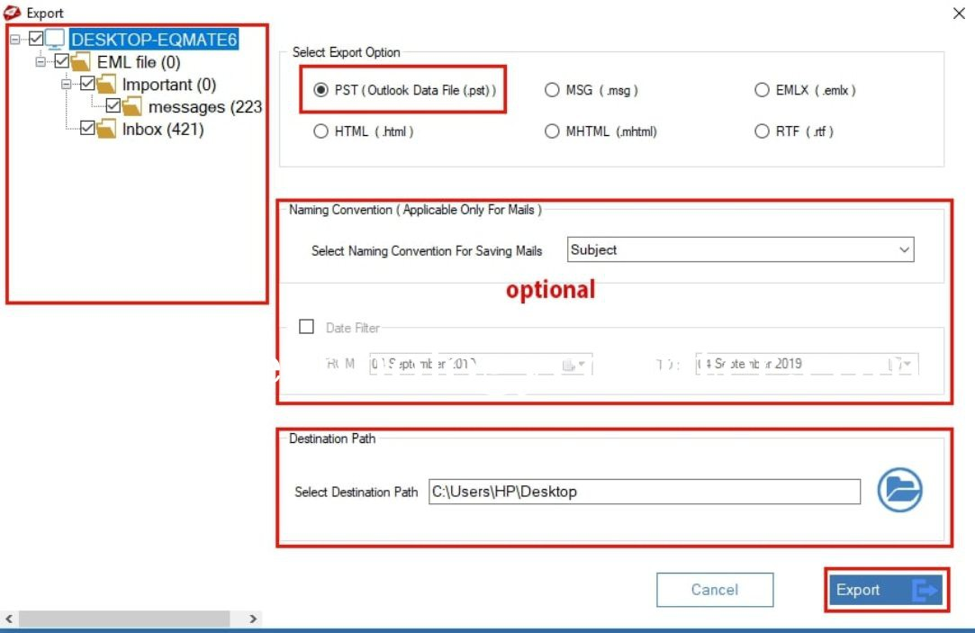 MailsDaddy EML to PST Converter Tool