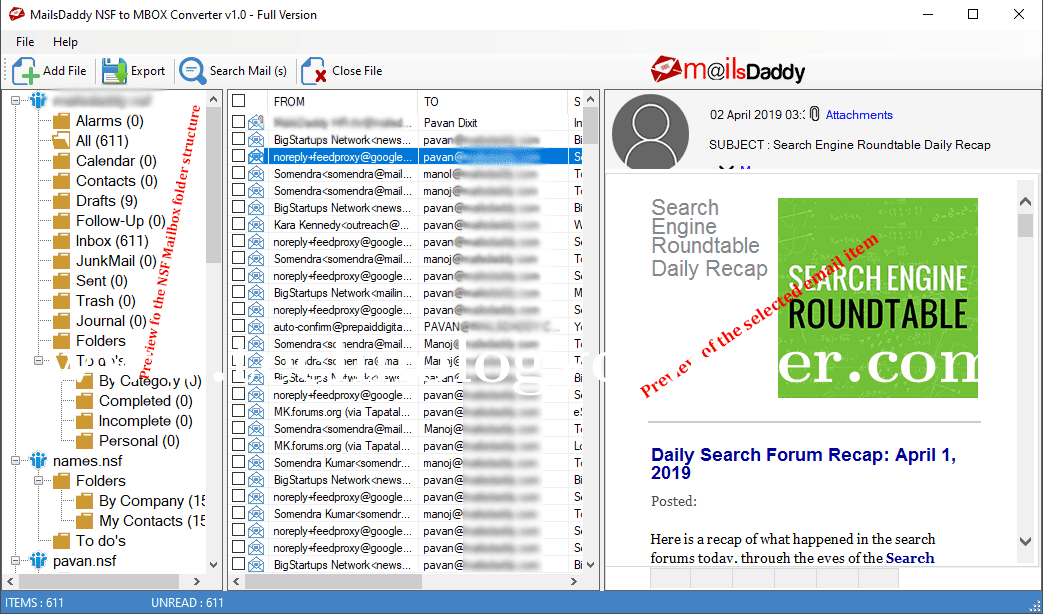 MailsDaddy NSF to MBOX Converter Tool