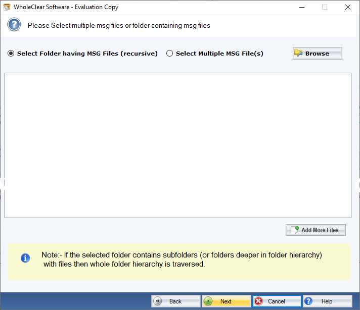 WholeClear MSG to IMAP Converter