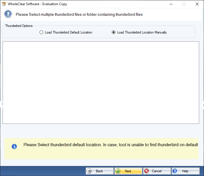 WholeClear Thunderbird to MSG Converter