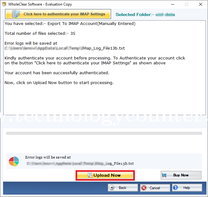 WholeClear OST to IMAP Converter
