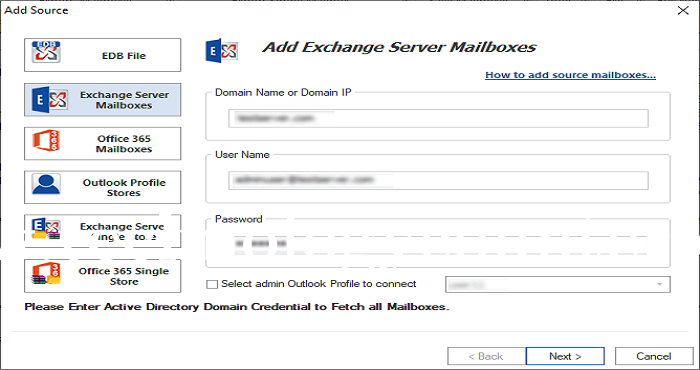 WholeClear Exchange Backup Software