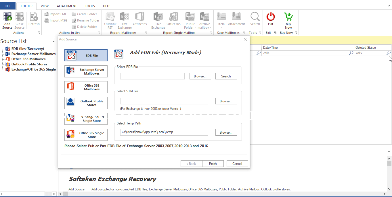 WholeClear EDB to PST Converter
